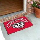 """University of Wisconsin Badgers Logo 19""""x30"""" carpeted bed mat/door mat"""