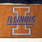 "University of Illinois 19""x30"" carpeted bed mat/door mat"