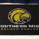 "University of Southern Mississippi Southern Miss Golden Eagles 19""x30"" carpeted bed mat/door mat"