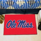 """University of Mississippi Ole Miss 19""""x30"""" carpeted bed mat/door mat"""