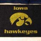 "University of Iowa Hawkeyes 19""x30"" carpeted bed mat/door mat"