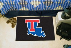 "Louisiana Tech University  19""x30"" carpeted bed mat/door mat"