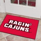 "Louisiana Lafayette Ragin Cajuns  19""x30"" carpeted bed mat/door mat"
