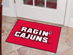 "Louisiana Lafayette Ragin Cajuns  19""x30"" carpeted bed mat/door mat"