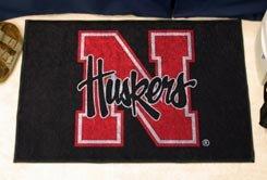 """University of Nebraska Huskers 19""""x30"""" carpeted bed mat/door mat"""