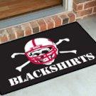 "University of Nebraska Blackshirts 19""x30"" carpeted bed mat/door mat"