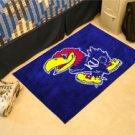"""University of Kansas KU 19""""x30"""" carpeted bed mat/door mat"""