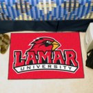 "Lamar University 19""x30"" carpeted bed mat/door mat"