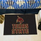 "Texas State University San Marcos 19""x30"" carpeted bed mat/door mat"