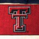 """Texas Tech University TT 19""""x30"""" carpeted bed mat/door mat"""