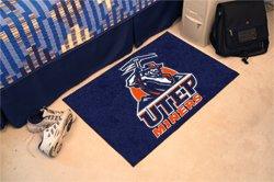 """University of Texas El Paso UTEP Miners 19""""x30"""" carpeted bed mat/door mat"""
