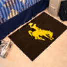"University of Wyoming Cowboy Logo 19""x30"" carpeted bed mat/door mat"