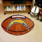 "NFL-San Diego Chargers 22""x35"" Football Shape Area Rug"