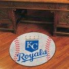 """MLB-Kansas City Royals 29"""" Round Baseball Rug"""