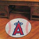"MLB-Los Angeles Angels 29"" Round Baseball Rug"