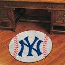 """MLB-New York Yankees 29"""" Round Baseball Rug"""