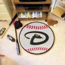 "MLB-Arizona Diamondbacks 29"" Round Baseball Rug"
