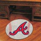 """MLB-Atlanta Braves 29"""" Round Baseball Rug"""