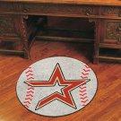 """MLB-Houston Astros 29"""" Round Baseball Rug"""