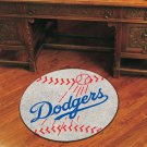 "MLB-Los Angeles Dodgers 29"" Round Baseball Rug"