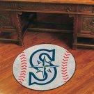 "MLB-Seattle Mariners 29"" Round Baseball Rug"