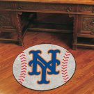 "MLB-New York Mets 29"" Round Baseball Rug"