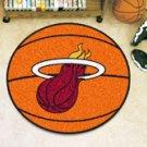 "NBA-Miami Heat 29"" Round Basketball Rug"