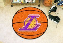"NBA-Los Angeles Lakers 29"" Round Basketball Rug"