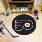 "NHL-Philadelphia Flyers 29"" Round Hockey Puck Rug"