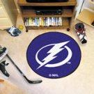 "NHL-Tampa Bay Lightning 29"" Round Hockey Puck Rug"