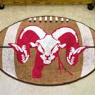 "Fordham University 22""x35"" Football Shape Area Rug"