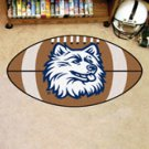 "University of Connecticut Huskies 22""x35"" Football Shape Area Rug"