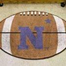"""US Naval Academy Navy 22""""x35"""" Football Shape Area Rug"""