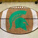 "Michigan State University 22""x35"" Football Shape Area Rug"