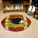 "Michigan Tech 22""x35"" Football Shape Area Rug"