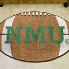 "Northern Michigan University NMU 22""x35"" Football Shape Area Rug"