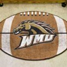 "Western Michigan University WMU 22""x35"" Football Shape Area Rug"