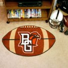 """Bowling Green State University Brown background 22""""x35"""" Football Shape Area Rug"""