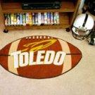 "University of Toledo 22""x35"" Football Shape Area Rug"