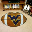 "West Virginia University WVU Mountaineers 22""x35"" Football Shape Area Rug"