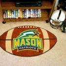 "George Mason University Mason Patriots 22""x35"" Football Shape Area Rug"