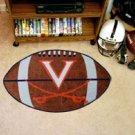 "University of Virginia V Logo with Swords 22""x35"" Football Shape Area Rug"