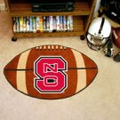 North Carolina State NCS 22&quot;x35&quot; Football Shape Area Rug