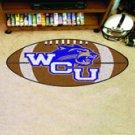 "Western Carolina University Catamounts 22""x35"" Football Shape Area Rug"