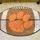 "Clemson University  22""x35"" Football Shape Area Rug"