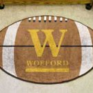 "Wofford College 22""x35"" Football Shape Area Rug"