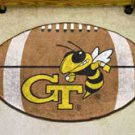 "Georgia Tech 22""x35"" Football Shape Area Rug"