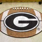 "University of Georgia Black G Logo 22""x35"" Football Shape Area Rug"