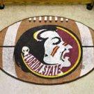 "Florida State University Seminole Logo 22""x35"" Football Shape Area Rug"