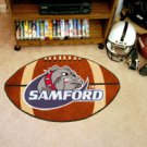 Samford University 22&quot;x35&quot; Football Shape Area Rug